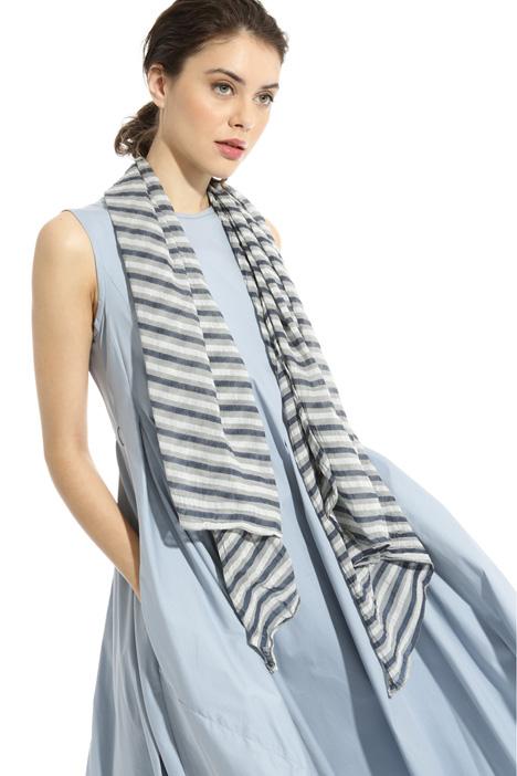 Asymmetrical striped scarf Intrend