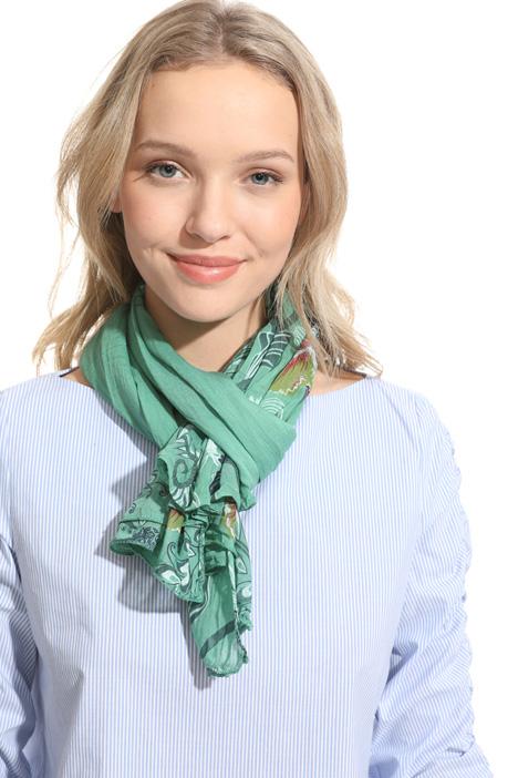 Asymmetrical silk blend scarf Intrend