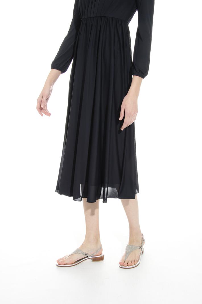 Fluid dress in viscose jersey Intrend