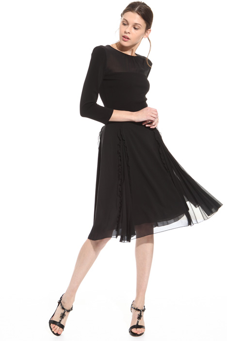 Dress with pleated splits  Intrend