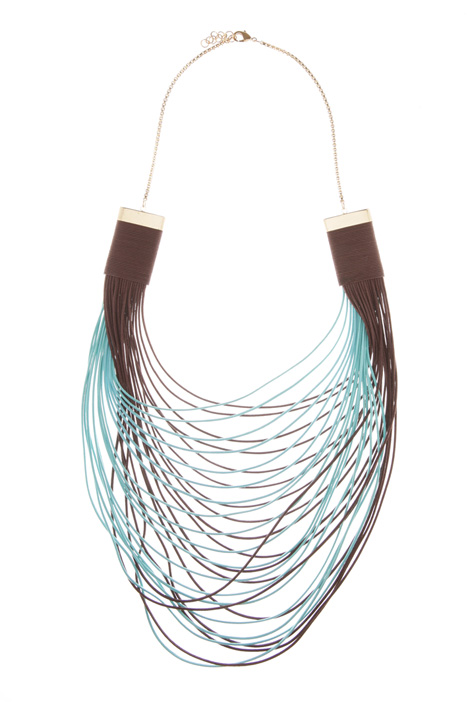 Two-tone multirow necklace Intrend
