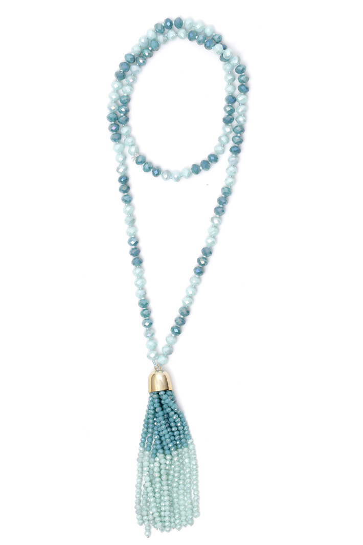 Multifaceted bead necklace Intrend