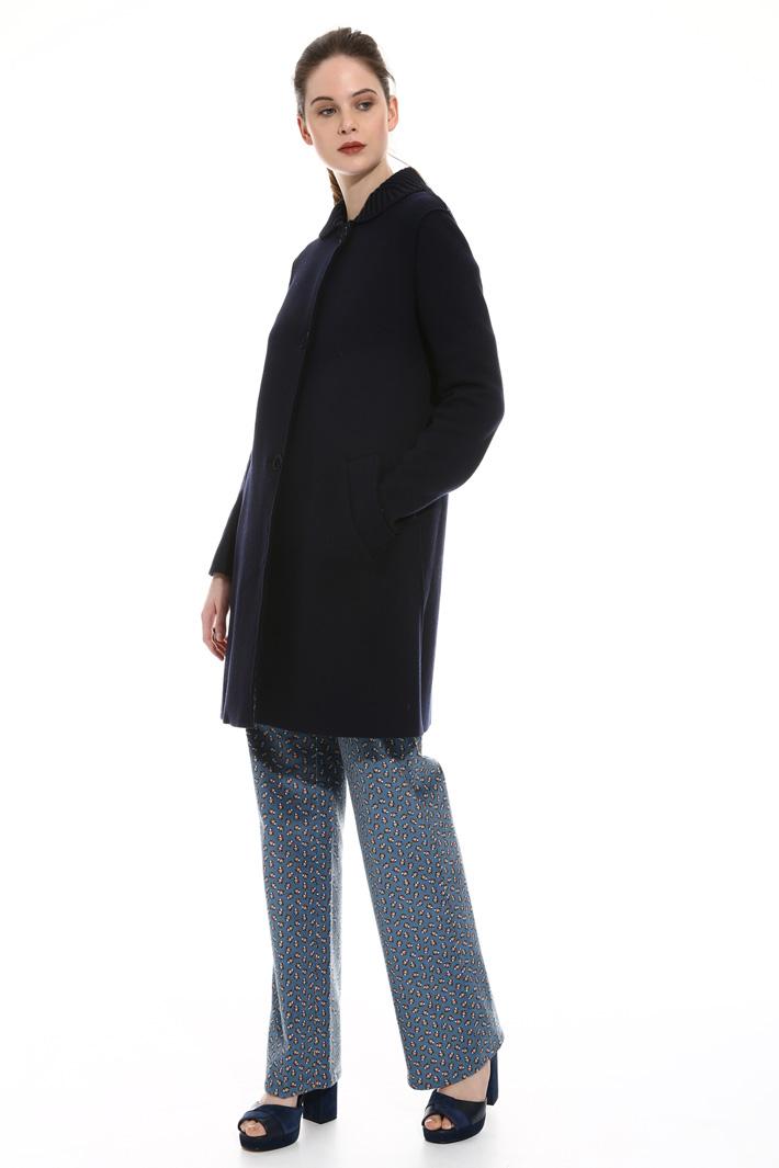 Boiled wool coat Intrend
