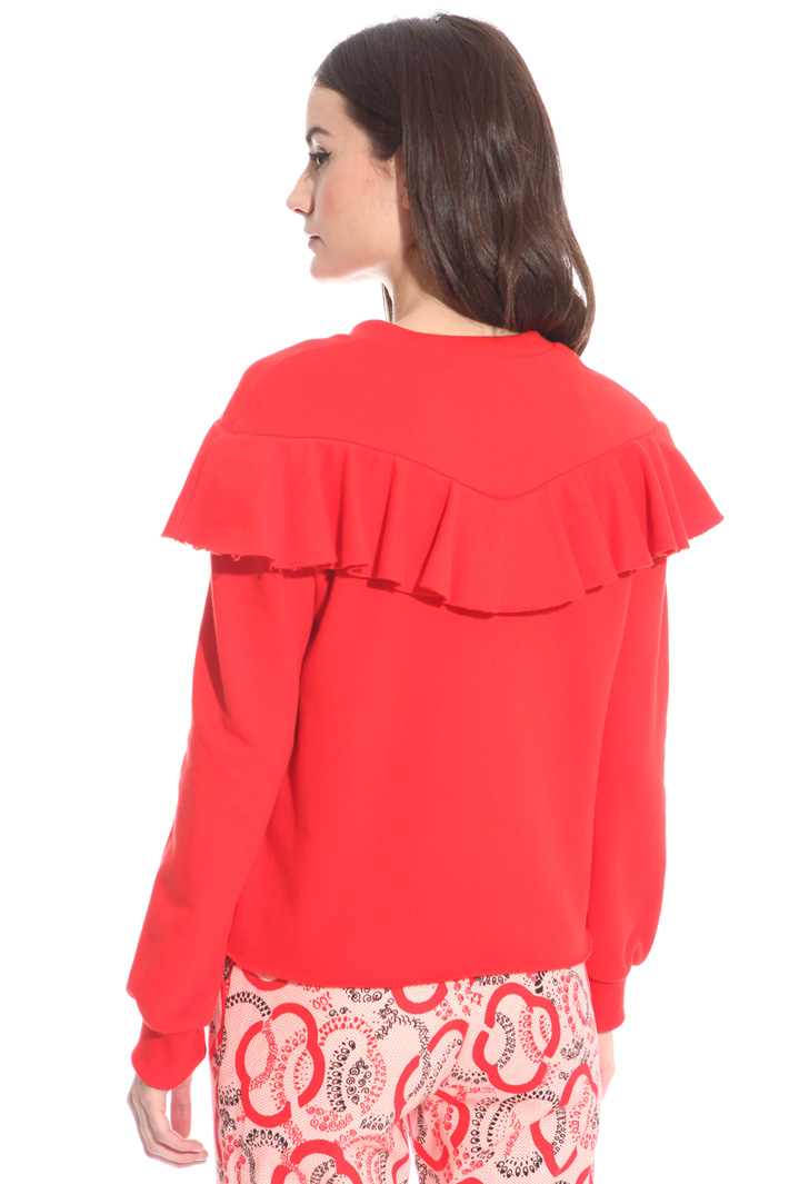 Boxy-fit flounced T-shirt Intrend