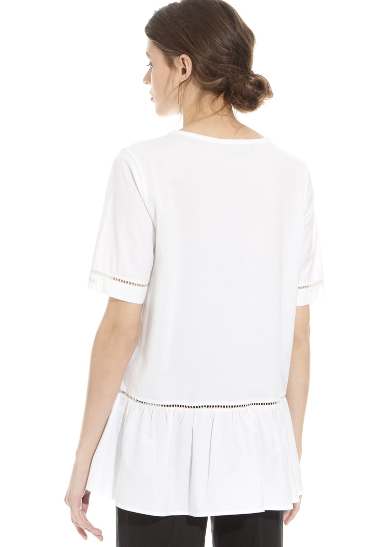 T-shirt in cotone con ajour  Intrend