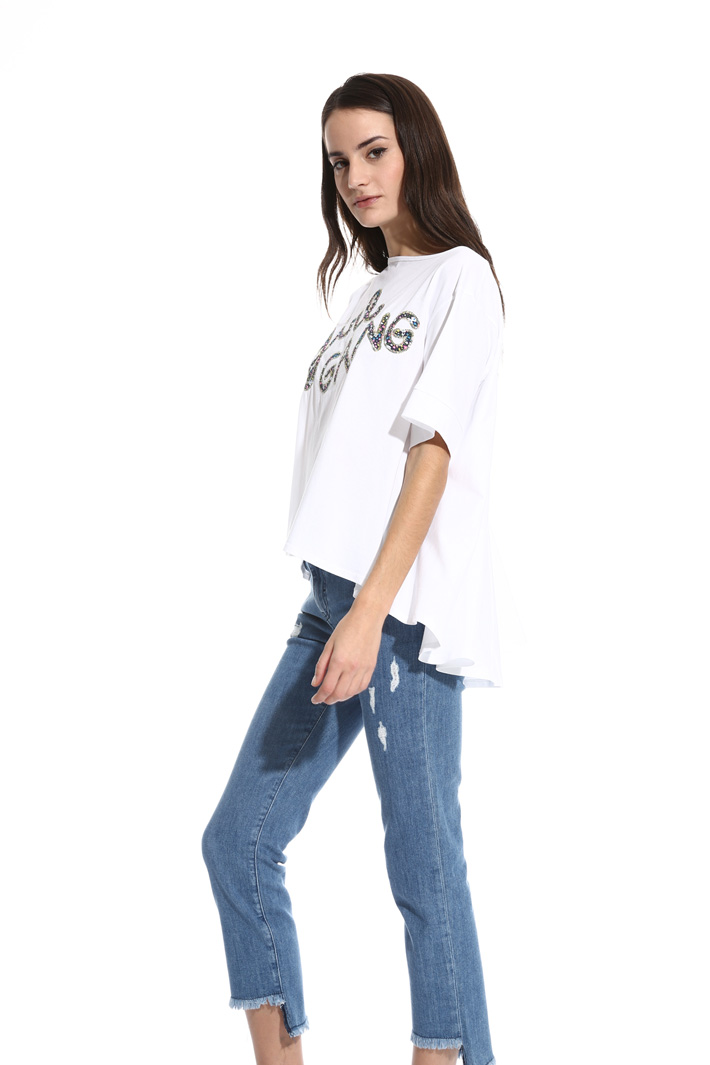Flared jersey T-shirt Intrend