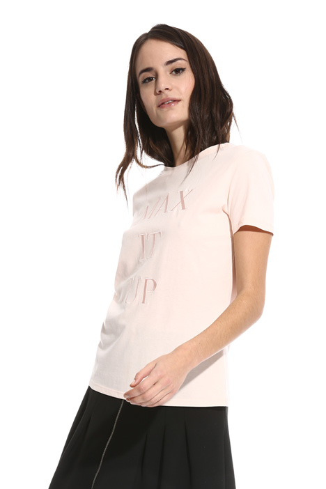 T-shirt girocollo in cotone Intrend