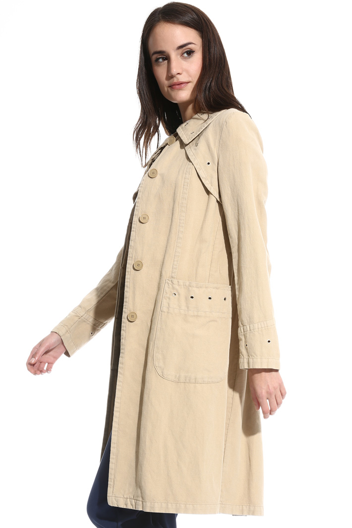 Trench with metal eyelets Intrend