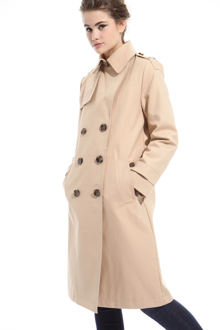 Water resistant cotton trench Intrend