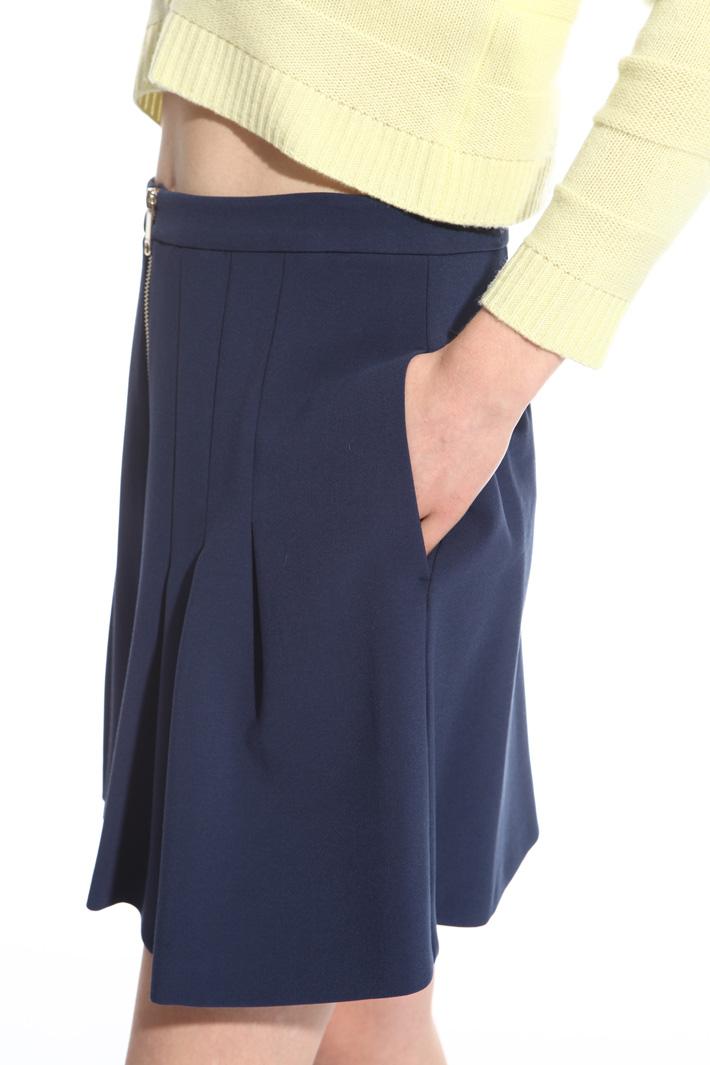 Minigonna con zip davanti Intrend