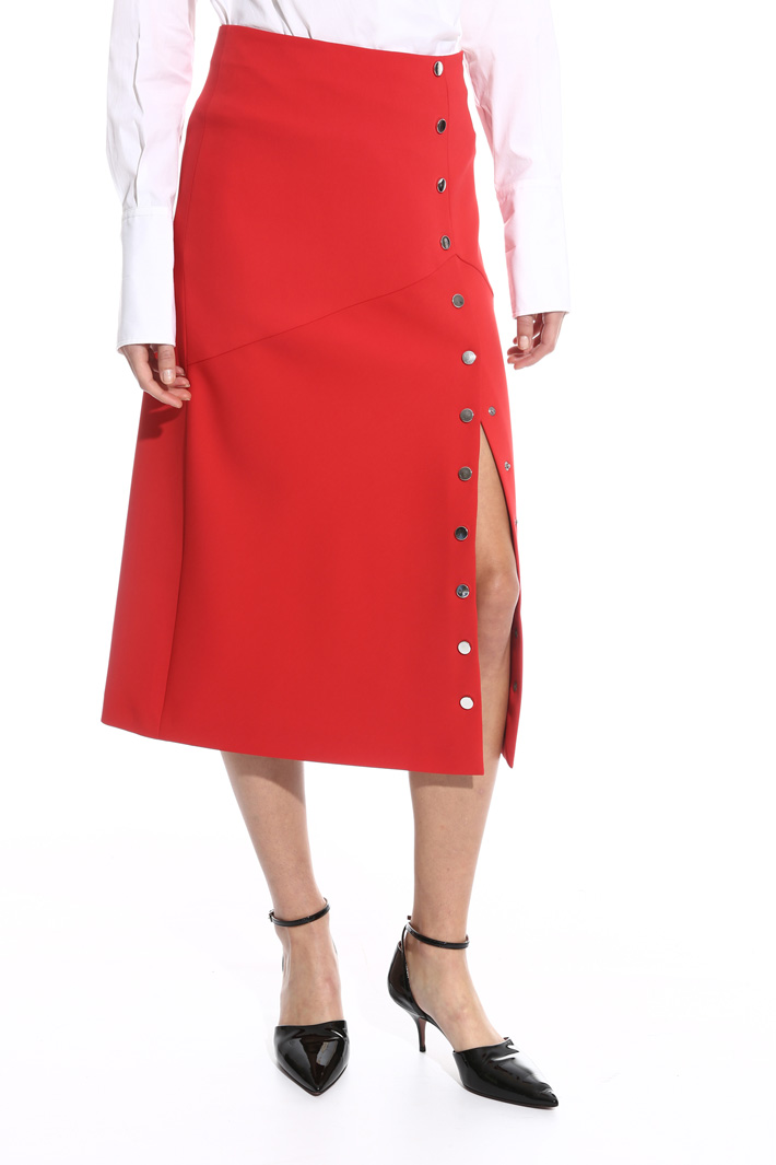 Midi skirt with slit Intrend