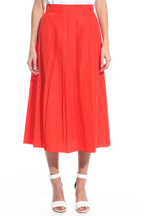 Pleated poplin skirt Intrend