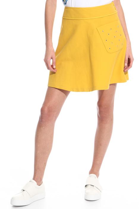 Flared canneté skirt Intrend