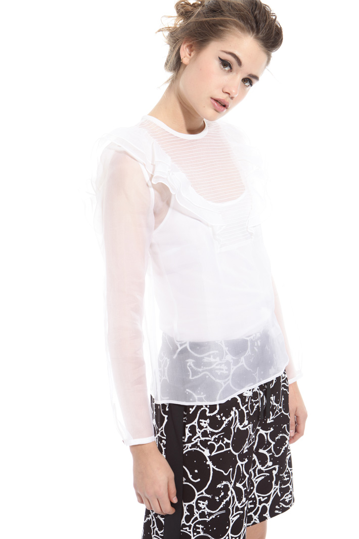 Camicia in organza di seta Intrend