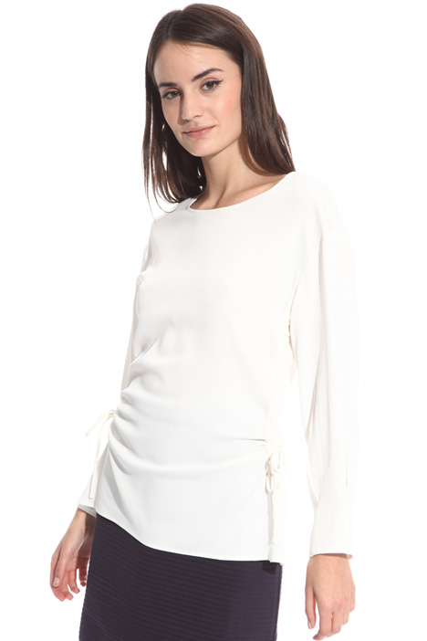 Blouse with side drawstrings  Intrend