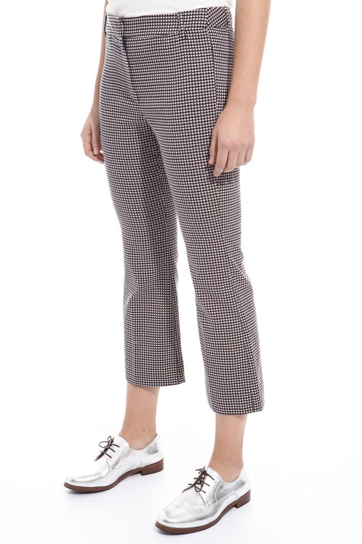 Pantaloni in jersey jacquard Intrend