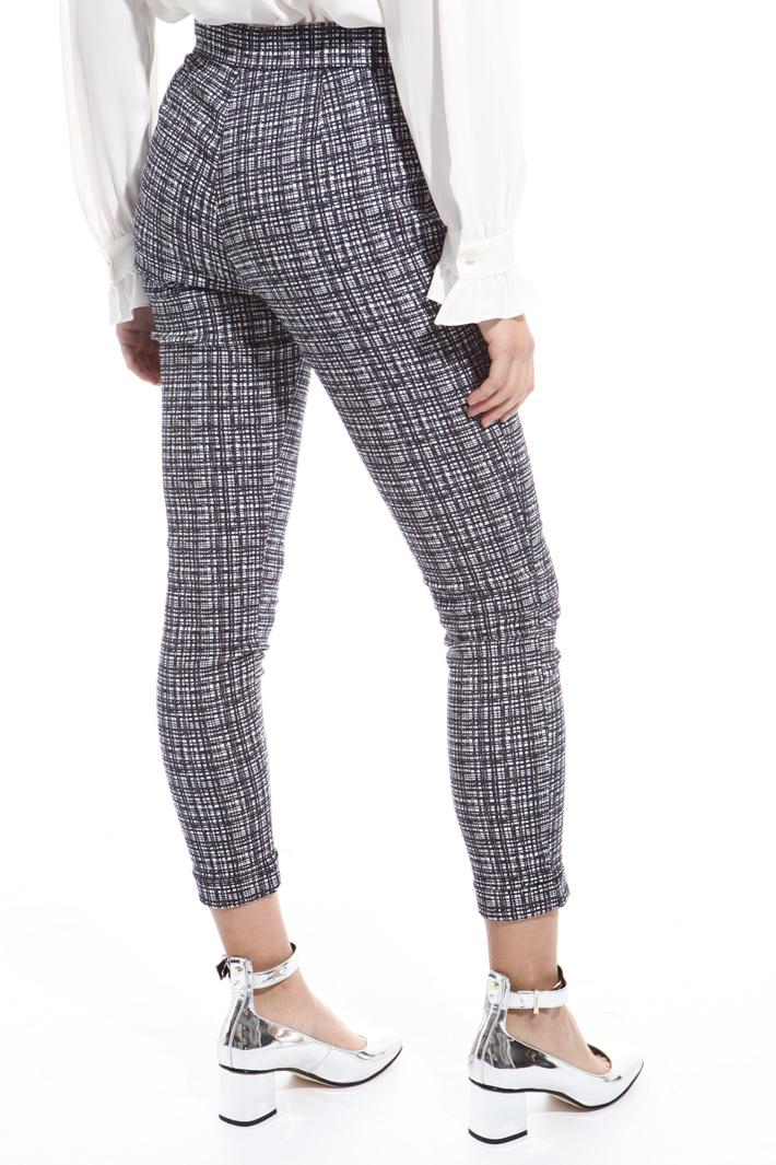 Pantalone skinny jacquard Intrend