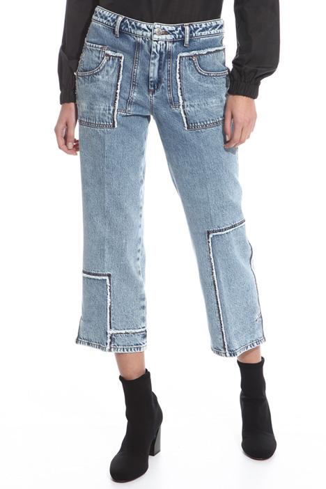 Fringed trim jeans Intrend