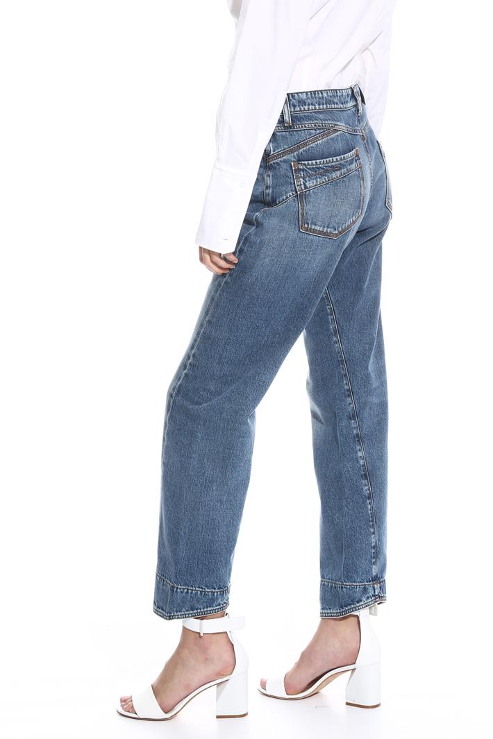 Mom jeans linea dritta Intrend