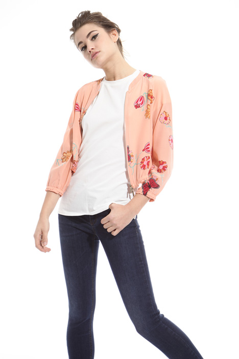 Bomber in crepe de chine Intrend