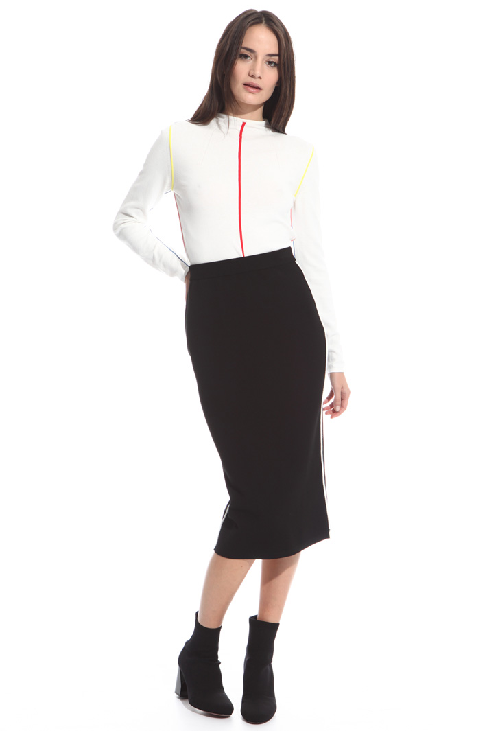 Knitted pencil skirt Intrend