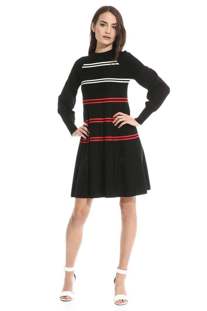 Knit viscose dress Intrend