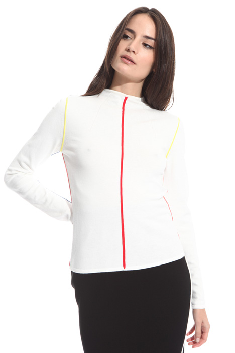 Coloured edge T-shirt Intrend