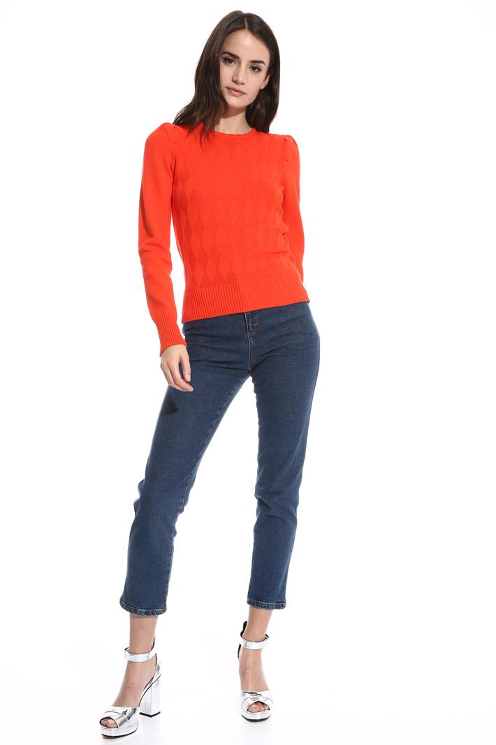 Puff shoulder sweater Intrend