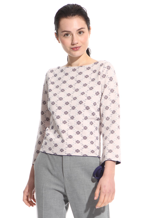 Viscose jacquard sweater Intrend