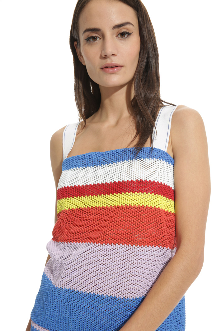 Top in tessuto crochet Intrend
