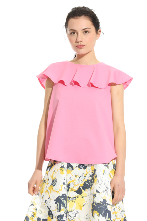 Flounced overlay top Intrend