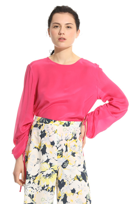 Blusa in mix di materiali Intrend