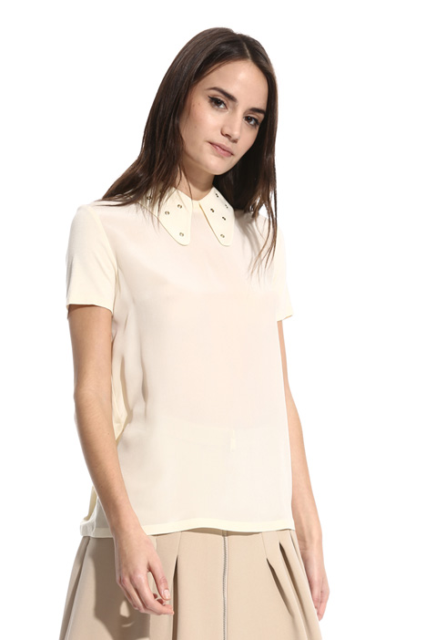 T-shirt with removable collar Intrend