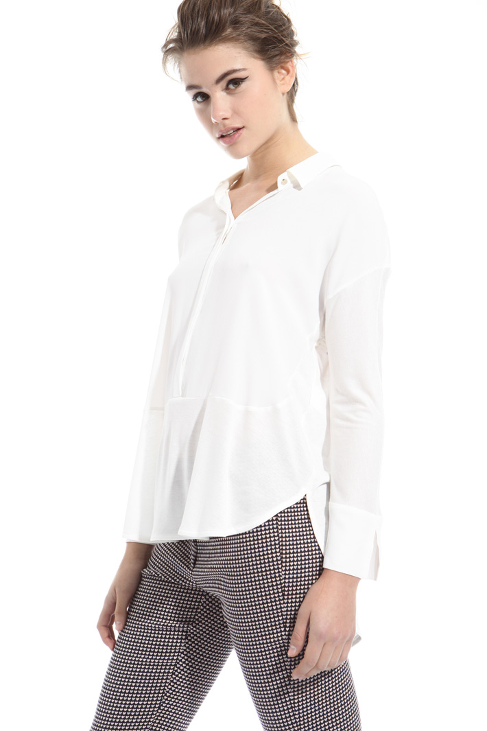 Blusa in jersey e crepe Intrend