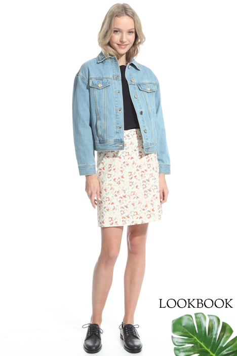 Embroidered denim jacket Intrend