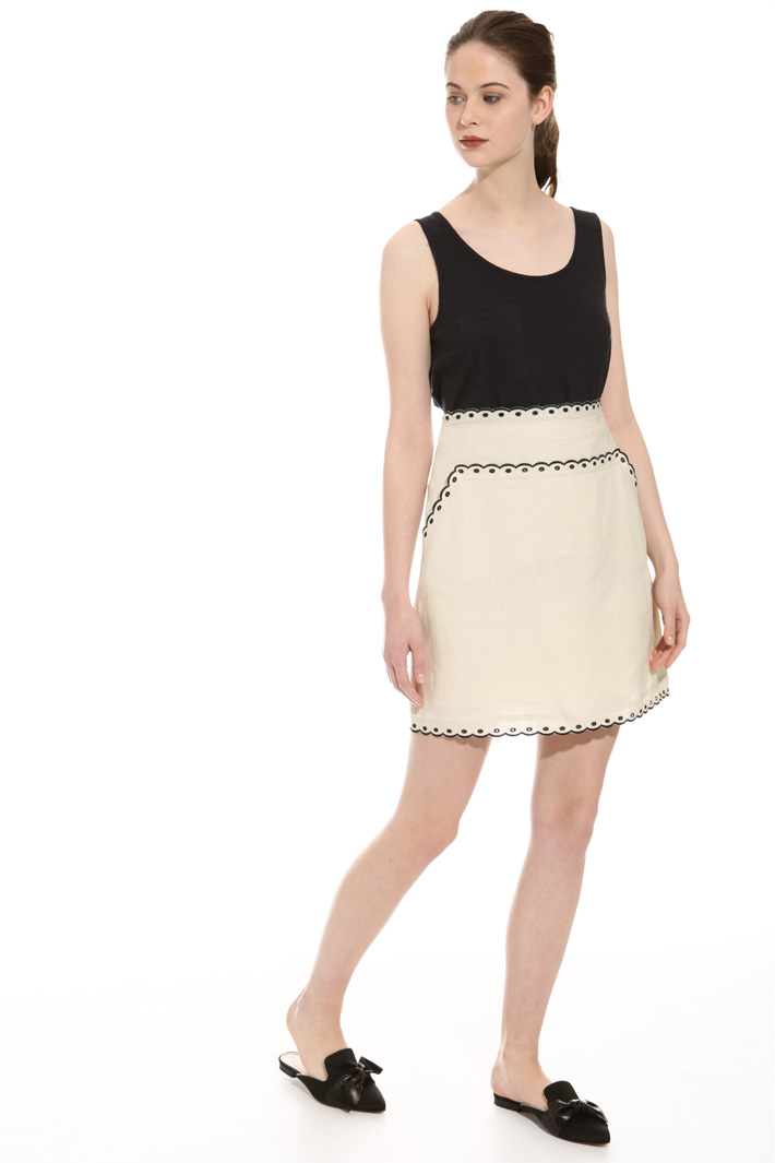 Pure linen skirt  Intrend
