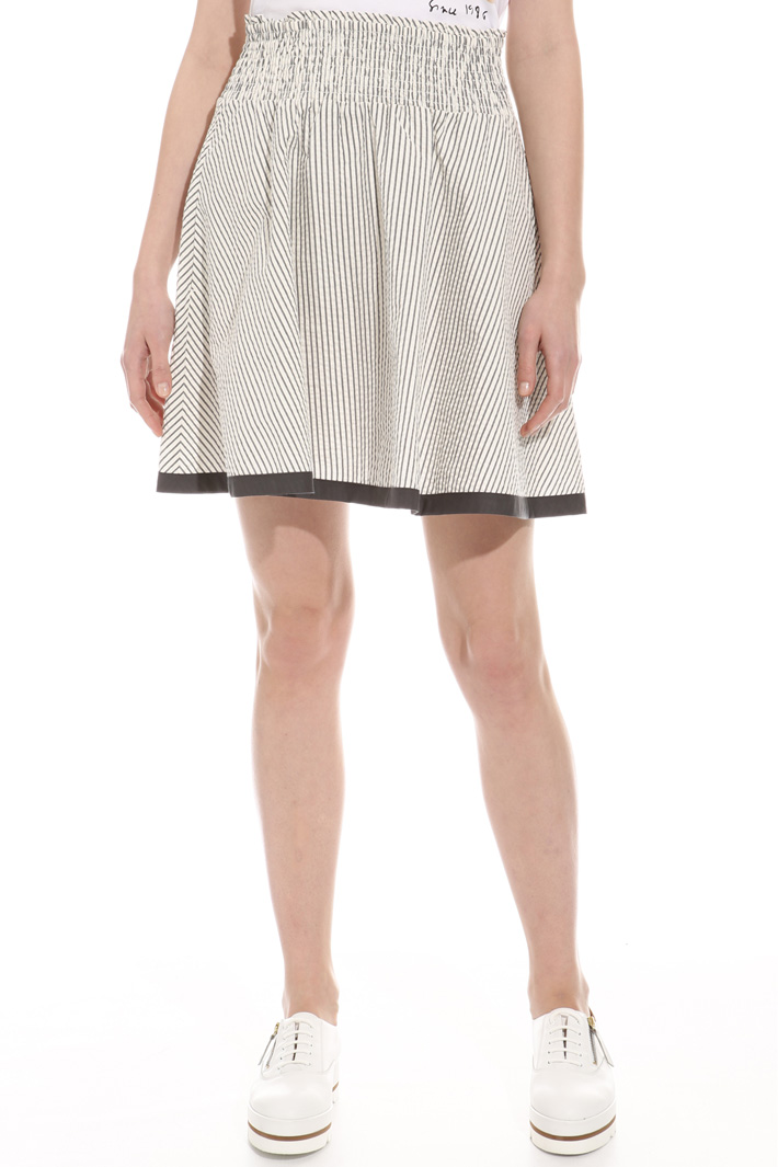 Cotton seersucker skirt Intrend