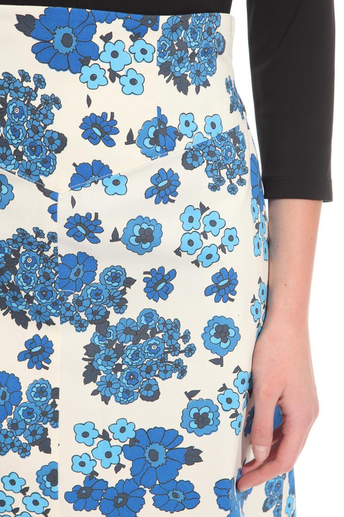 Printed gabardine skirt Intrend