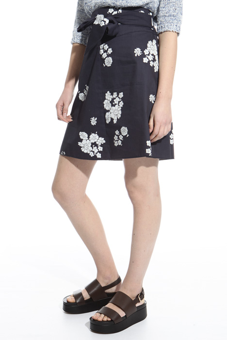 Printed gabardine skirt Intrend