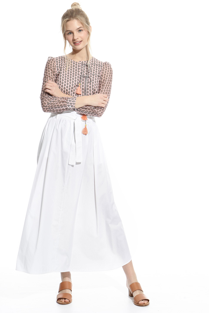 Relaxed-fit poplin skirt Intrend