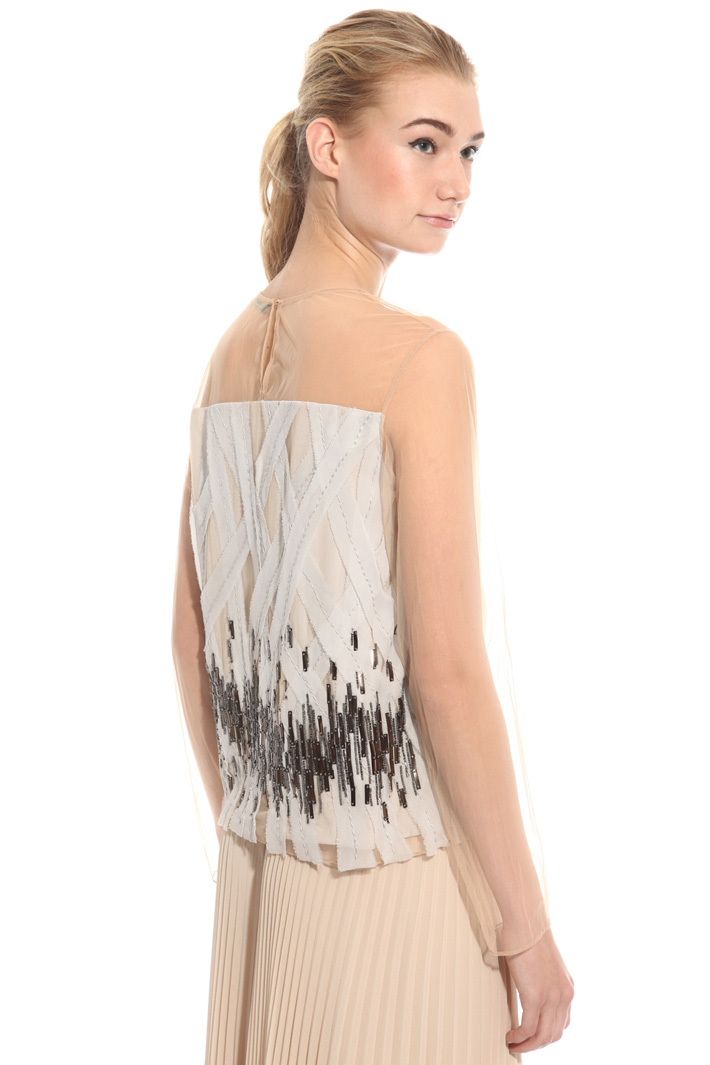 Top in tulle ricamato Intrend