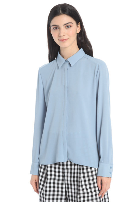 Plissé panel shirt Intrend