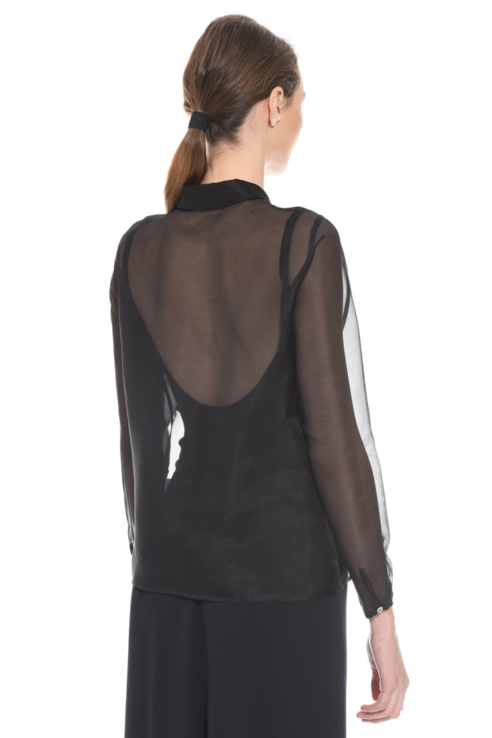 Silk organza shirt Intrend