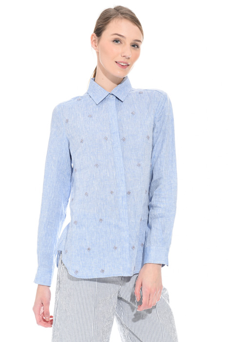 Embroidered linen shirt Intrend