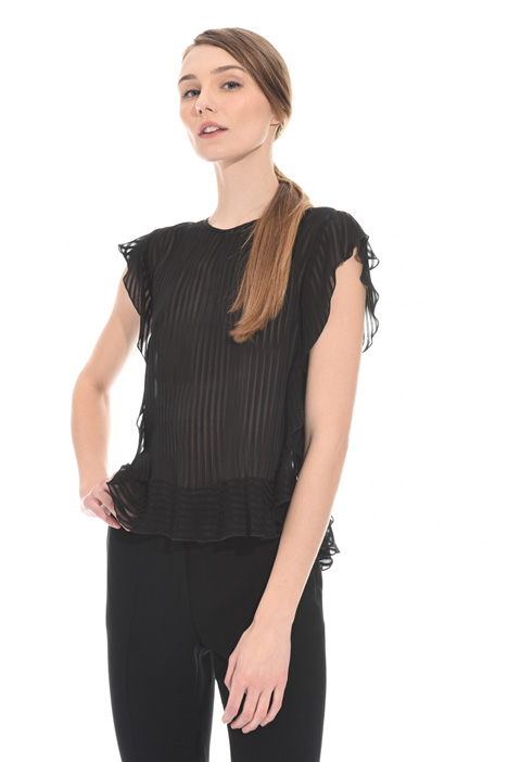 Striped viscose top Intrend