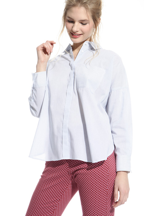 Boxy-fit cotton shirt Intrend