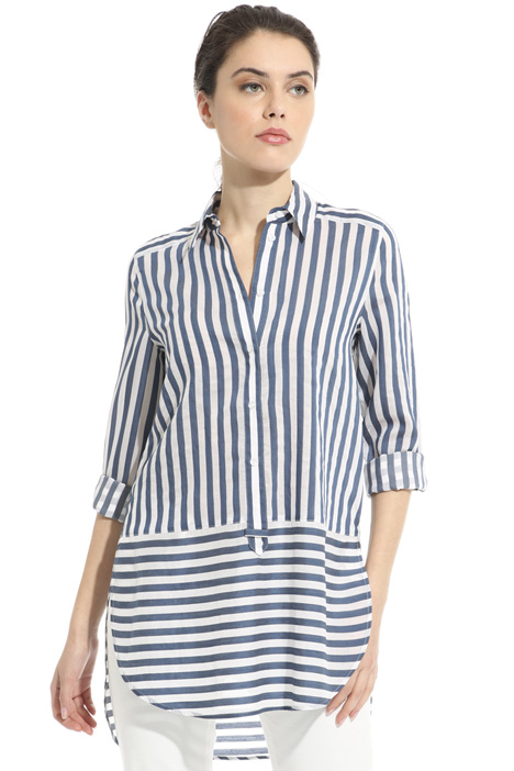 Striped muslin shirt Intrend
