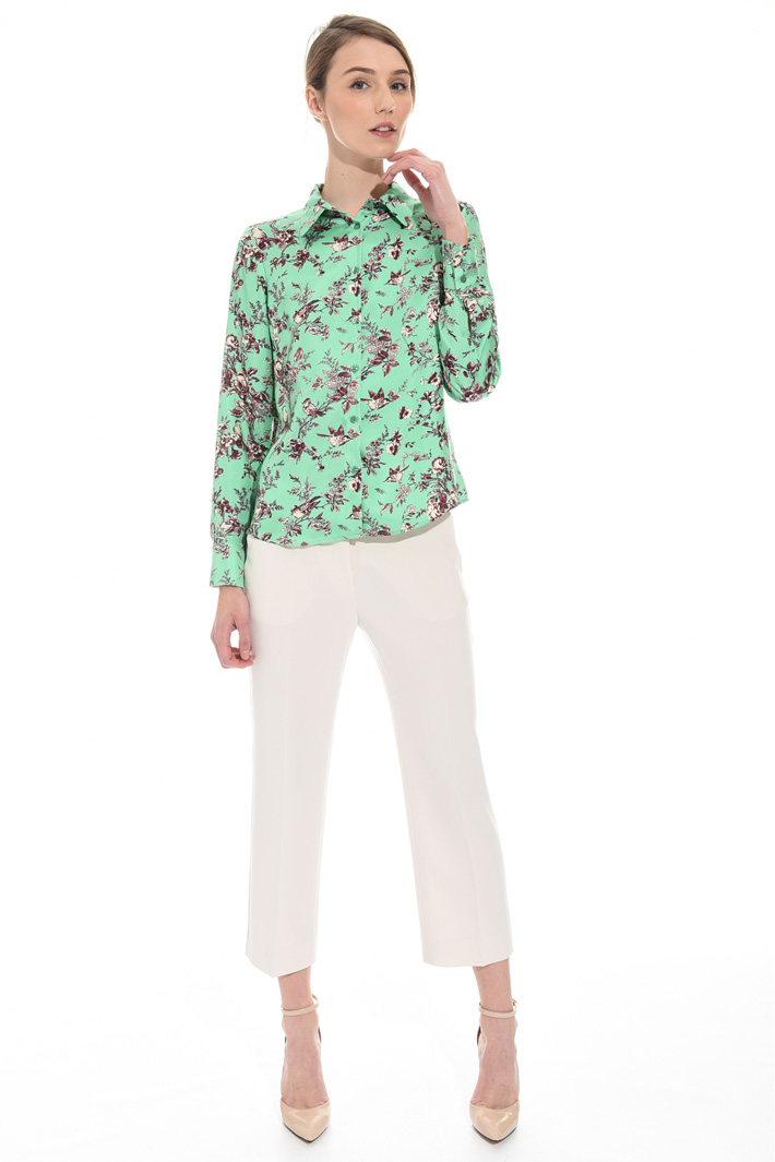 Pure silk satin shirt  Intrend
