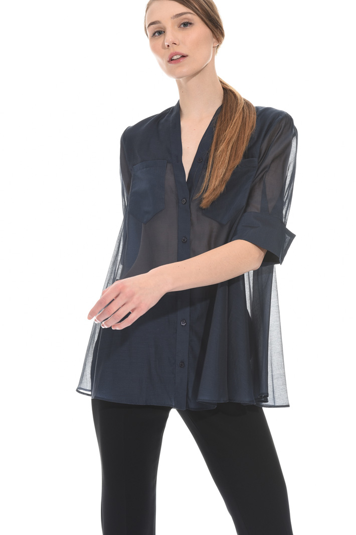 Cotton organza shirt Intrend