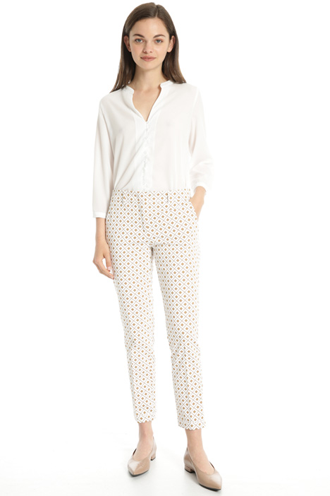 Printed cotton trousers Intrend